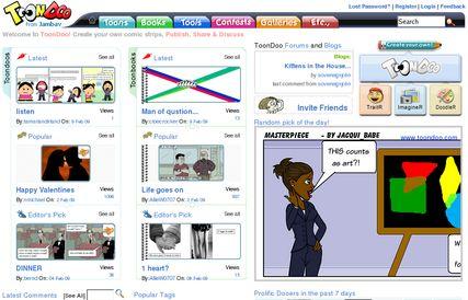 """O site """"ToonDoo"""" é na verdade uma ferramenta Web 2.0"""